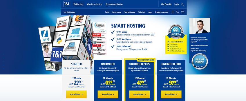 1und1 IONOS Webhosting
